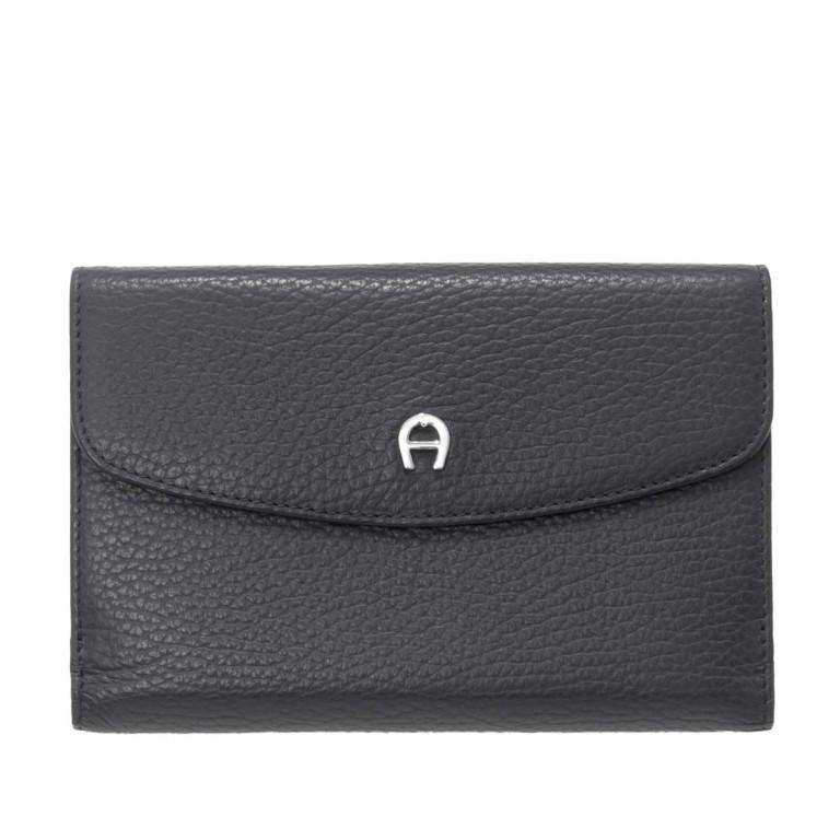 AIGNER Basics Damenbörse 152214 Black, Farbe: schwarz, Marke: Aigner, Abmessungen in cm: 16.0x11.0x2.5, Bild 1 von 2