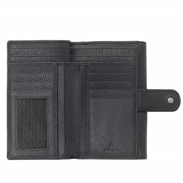 AIGNER Basics Damenbörse 152214 Black, Farbe: schwarz, Marke: Aigner, Abmessungen in cm: 16.0x11.0x2.5, Bild 2 von 2