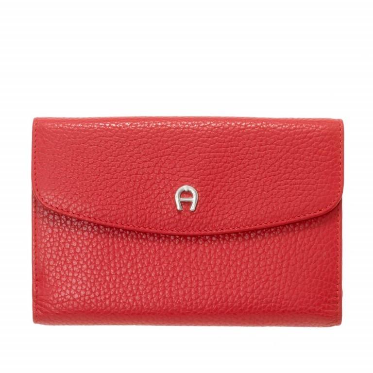AIGNER Basics Damenbörse 152214 Red, Farbe: rot/weinrot, Marke: Aigner, Abmessungen in cm: 16.0x11.0x2.5, Bild 1 von 2