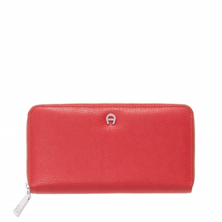 AIGNER Basics Damenbörse 156584 Red, Farbe: rot/weinrot, Marke: Aigner, Abmessungen in cm: 19.0x10.5x2.5, Bild 1 von 2