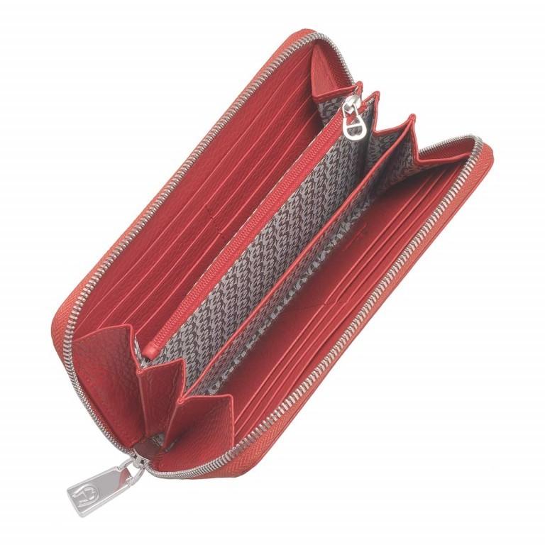 AIGNER Basics Damenbörse 156584 Red, Farbe: rot/weinrot, Marke: Aigner, Abmessungen in cm: 19.0x10.5x2.5, Bild 2 von 2