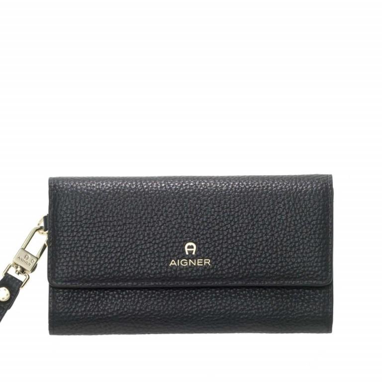 AIGNER Ivy Damenbörse 156587 Black, Farbe: schwarz, Marke: Aigner, Abmessungen in cm: 17.5x10.0x2.5, Bild 1 von 2