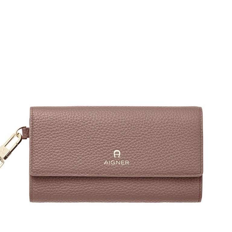 AIGNER Ivy Damenbörse 156587 Rosenholz, Farbe: rosa/pink, Manufacturer: Aigner, Dimensions (cm): 17.5x10.0x2.5, Image 1 of 2