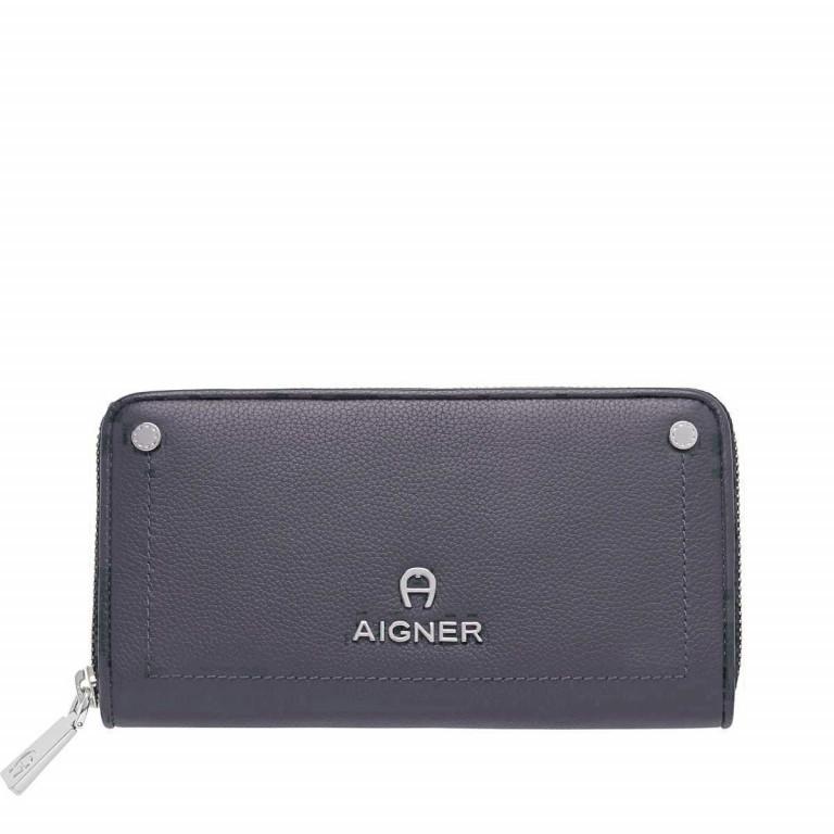 AIGNER Ava Flachbörse 156635 Marine, Farbe: blau/petrol, Marke: Aigner, Abmessungen in cm: 19.0x11.0x2.5, Bild 1 von 2