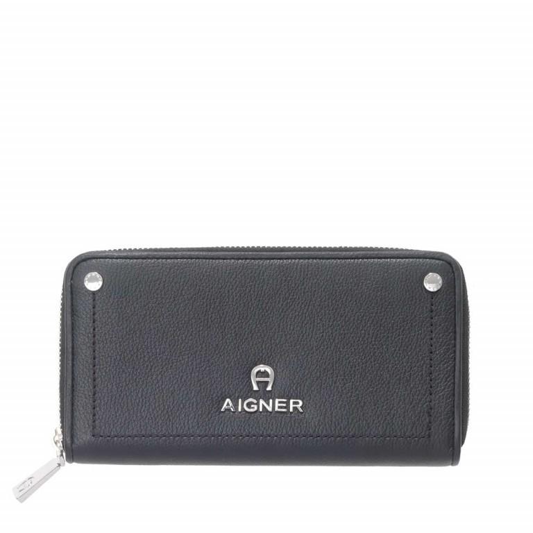 AIGNER Ava Flachbörse 156635 Black, Farbe: schwarz, Marke: Aigner, Abmessungen in cm: 19.0x11.0x2.5, Bild 1 von 2