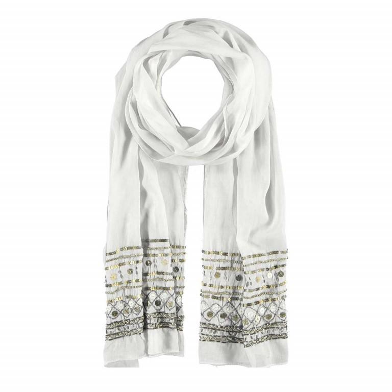 Passigatti Baumwolle Schal Pailletten Weiß, Farbe: weiß, Marke: Passigatti, EAN: 4046124012341, Abmessungen in cm: 180.0x50.0, Bild 1 von 2