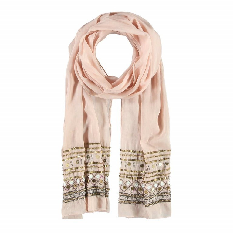 Passigatti Baumwolle Schal Pailletten Puder, Farbe: rosa/pink, Marke: Passigatti, EAN: 4046124007613, Abmessungen in cm: 180.0x50.0, Bild 1 von 2