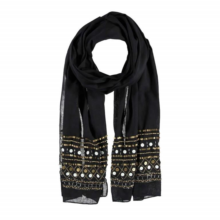 Passigatti Baumwolle Schal Pailletten Schwarz, Farbe: schwarz, Marke: Passigatti, EAN: 4046124007606, Abmessungen in cm: 180.0x50.0, Bild 1 von 2
