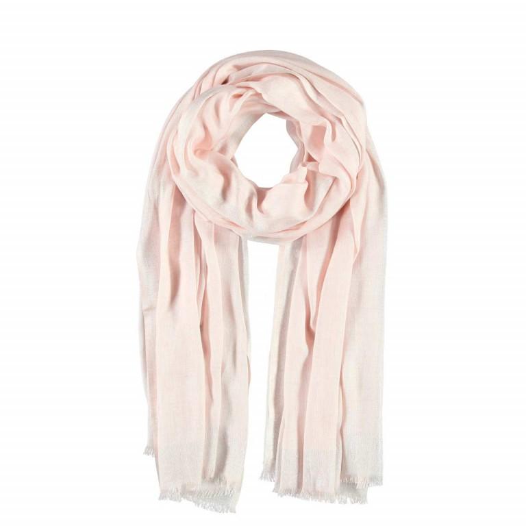 Passigatti Schal Silber Bordüre Puder, Farbe: rosa/pink, Marke: Passigatti, EAN: 4046124009822, Abmessungen in cm: 100.0x180.0, Bild 1 von 2