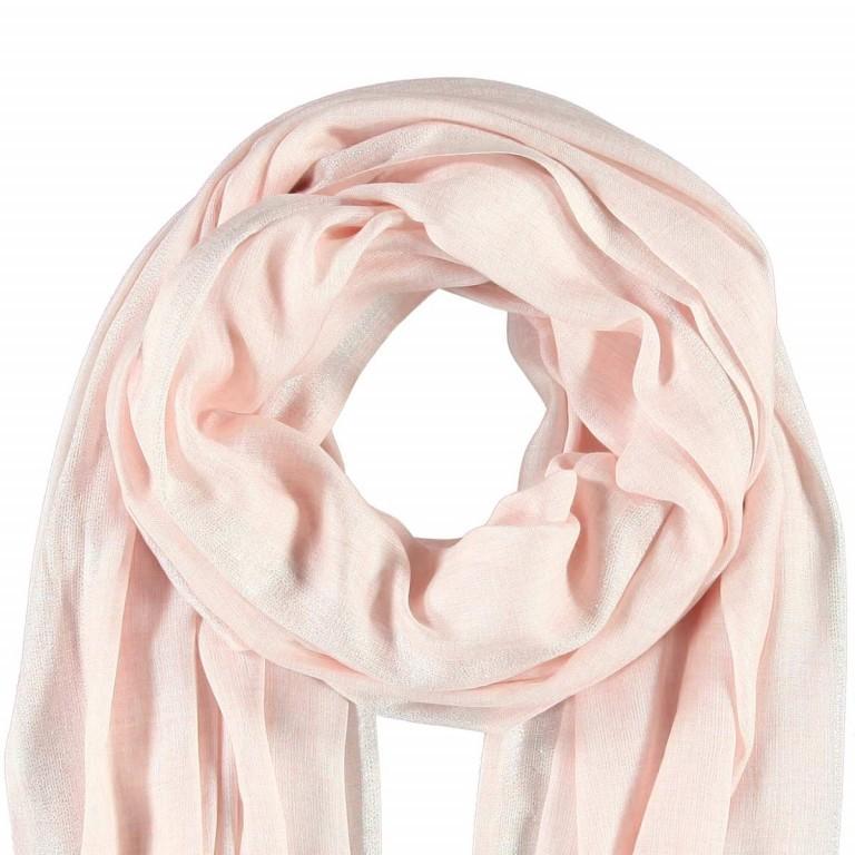 Passigatti Schal Silber Bordüre Puder, Farbe: rosa/pink, Marke: Passigatti, EAN: 4046124009822, Abmessungen in cm: 100.0x180.0, Bild 2 von 2