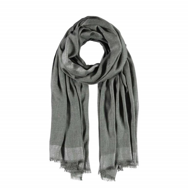 Passigatti Schal Silber Bordüre Grau, Farbe: grau, Marke: Passigatti, EAN: 4046124009815, Abmessungen in cm: 100.0x180.0, Bild 1 von 2