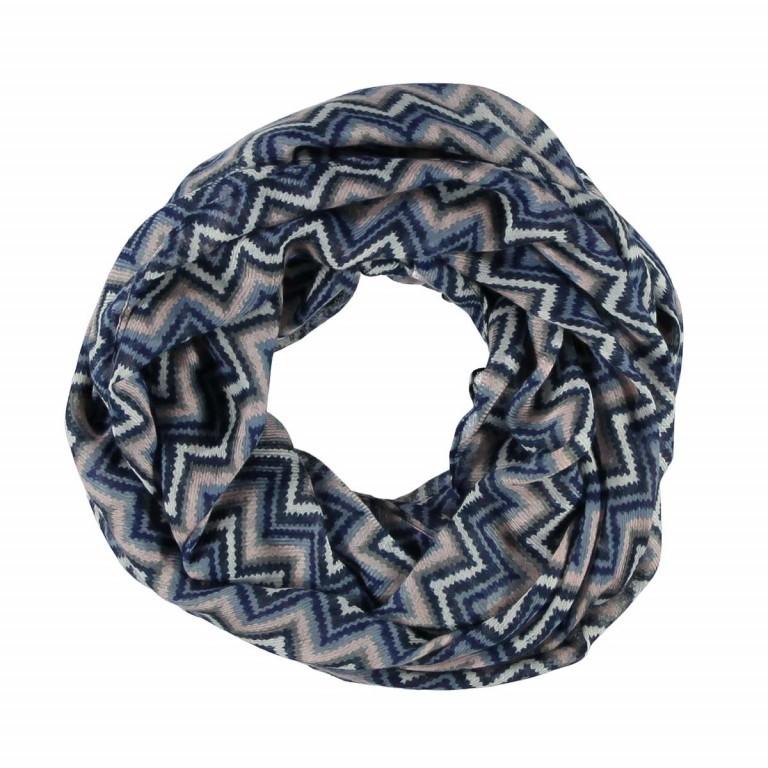 Passigatti Loop 70's-Zick-Zack-Print Marine, Farbe: blau/petrol, Marke: Passigatti, EAN: 4046124010132, Abmessungen in cm: 70.0x80.0, Bild 1 von 1