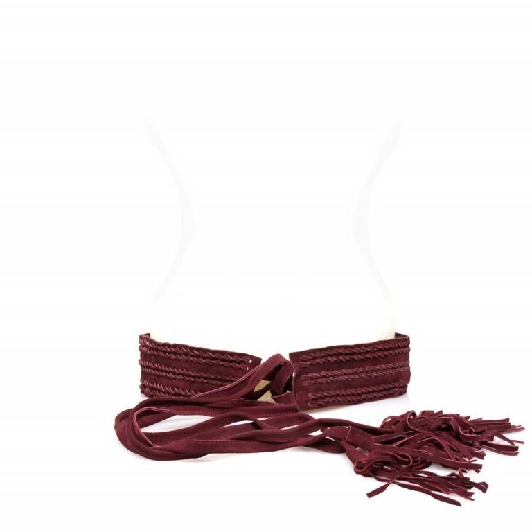 Passigatti Ledergürtel Fransen Bordeaux, Farbe: rot/weinrot, Marke: Passigatti, EAN: 4046124012181, Bild 1 von 2