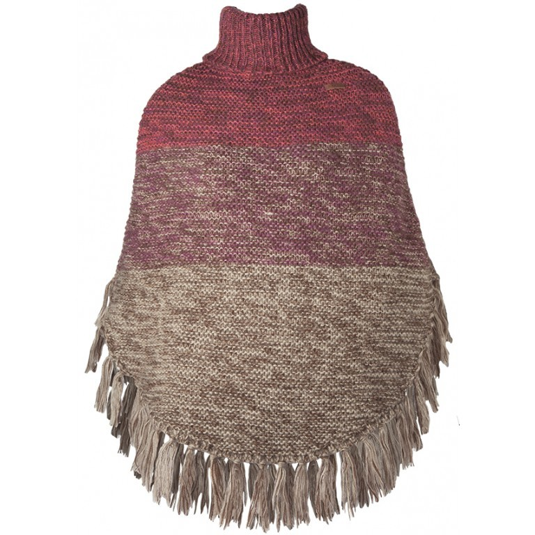Barts Sacha Poncho Acryl Rose, Farbe: rot/weinrot, Manufacturer: Barts, EAN: 8717457437892, Image 1 of 1