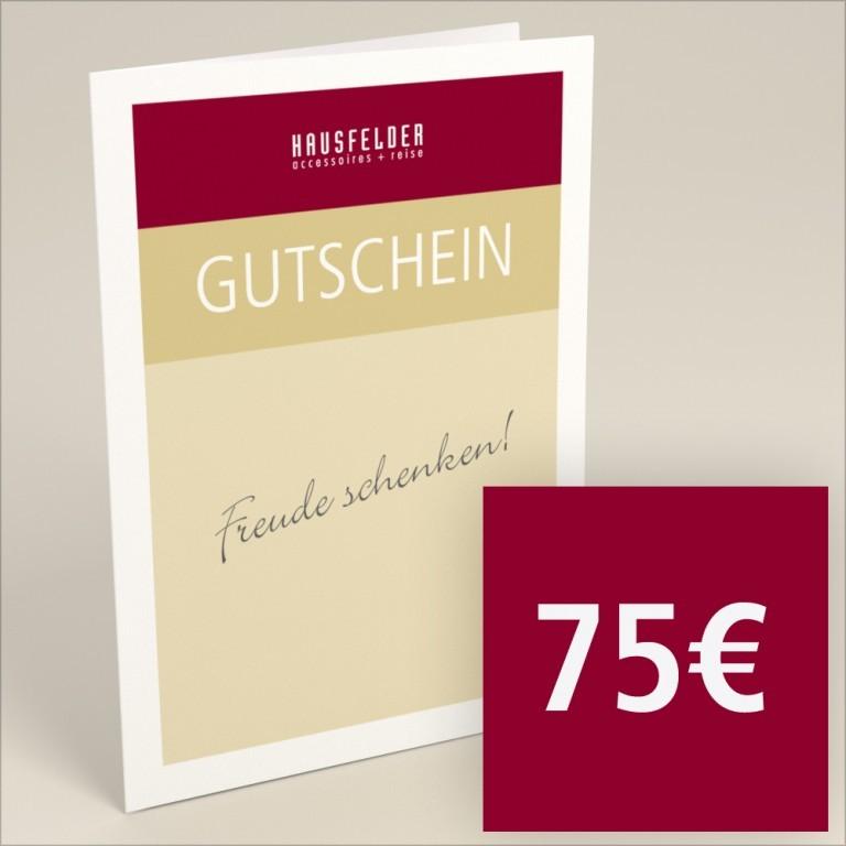 Gutschein zum selber ausdrucken 75 €, Marke: Hausfelder, Bild 1 von 4