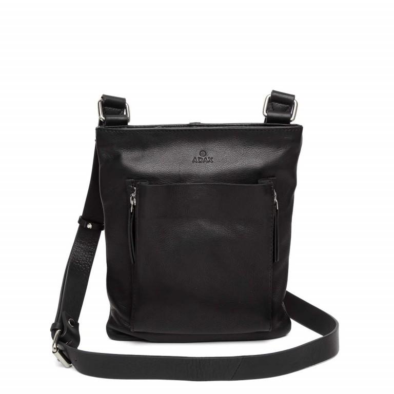 Adax Sorano 220394 Crossbody Black, Farbe: schwarz, Marke: Adax, EAN: 5705483149899, Abmessungen in cm: 19.0x24.0x6.0, Bild 1 von 3