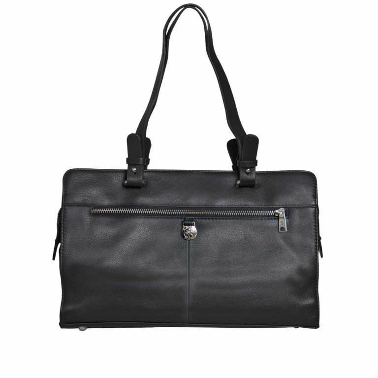 Adax Sorano 250294 Kleiner Shopper Black, Farbe: schwarz, Marke: Adax, EAN: 5705483183848, Abmessungen in cm: 33.0x20.0x9.0, Bild 2 von 3