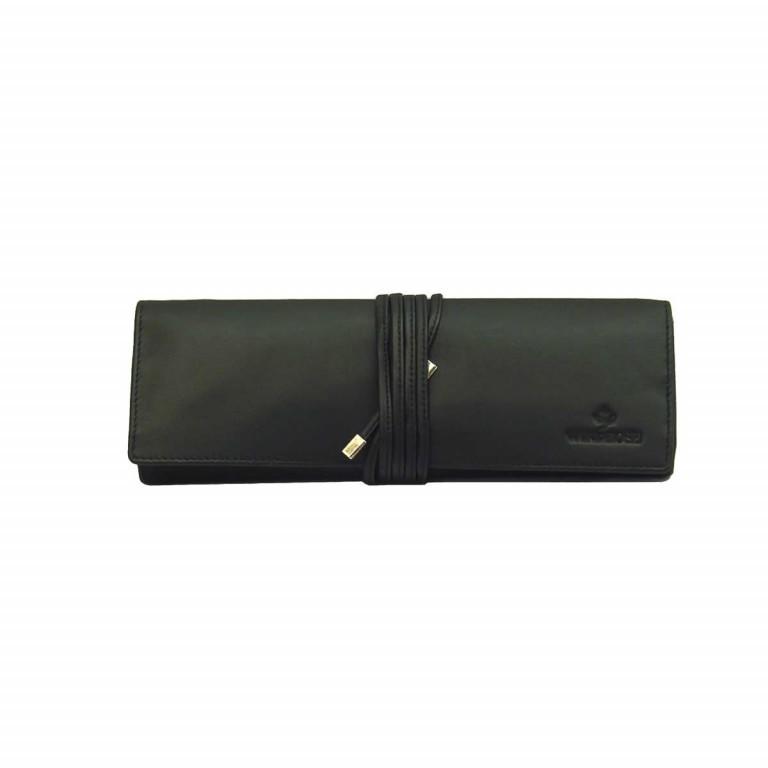 Windrose Nappa Schmuckrolle L Schwarz, Farbe: schwarz, Marke: Windrose, Abmessungen in cm: 23.5x9.0x3.5, Bild 2 von 4