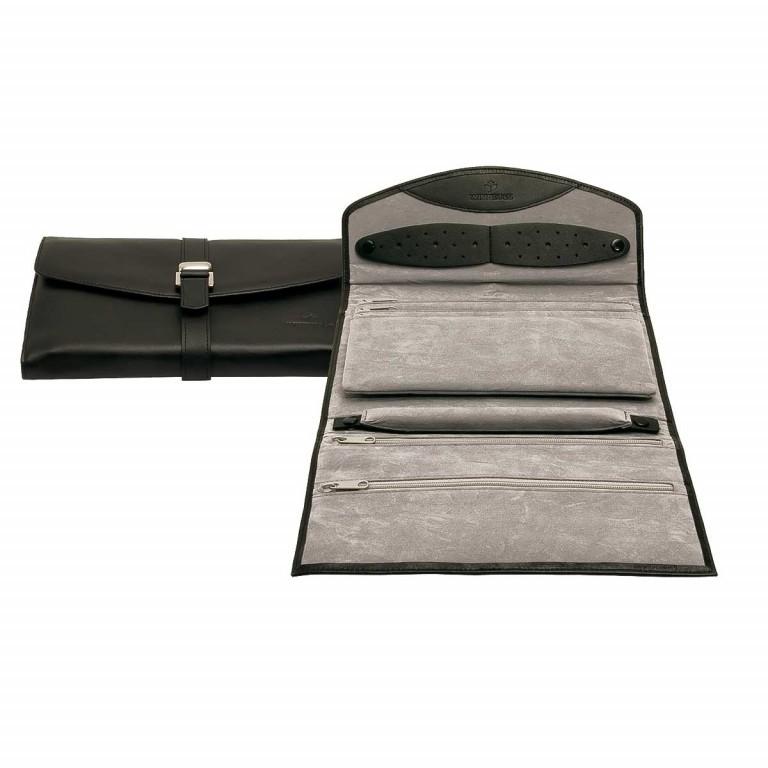 Windrose Nappa Schmucktasche XL Schwarz, Farbe: schwarz, Marke: Windrose, Abmessungen in cm: 23.0x5.0x16.0, Bild 1 von 4