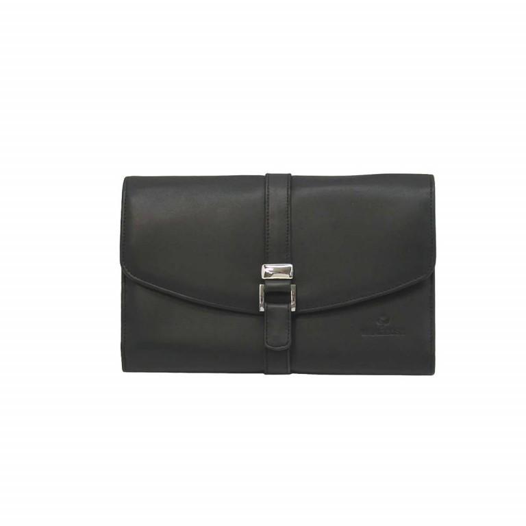 Windrose Nappa Schmucktasche XL Schwarz, Farbe: schwarz, Marke: Windrose, Abmessungen in cm: 23.0x5.0x16.0, Bild 2 von 4
