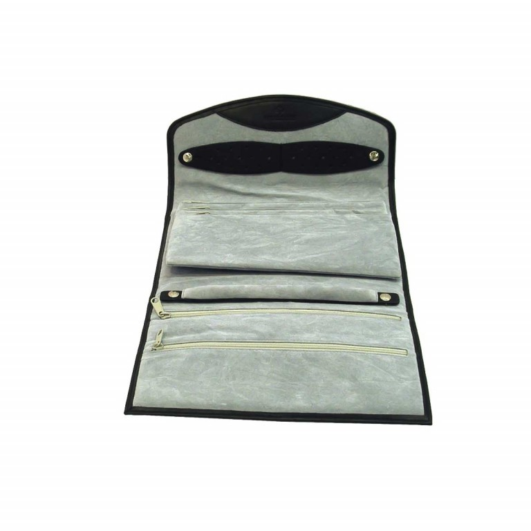 Windrose Nappa Schmucktasche XL Schwarz, Farbe: schwarz, Marke: Windrose, Abmessungen in cm: 23.0x5.0x16.0, Bild 3 von 4