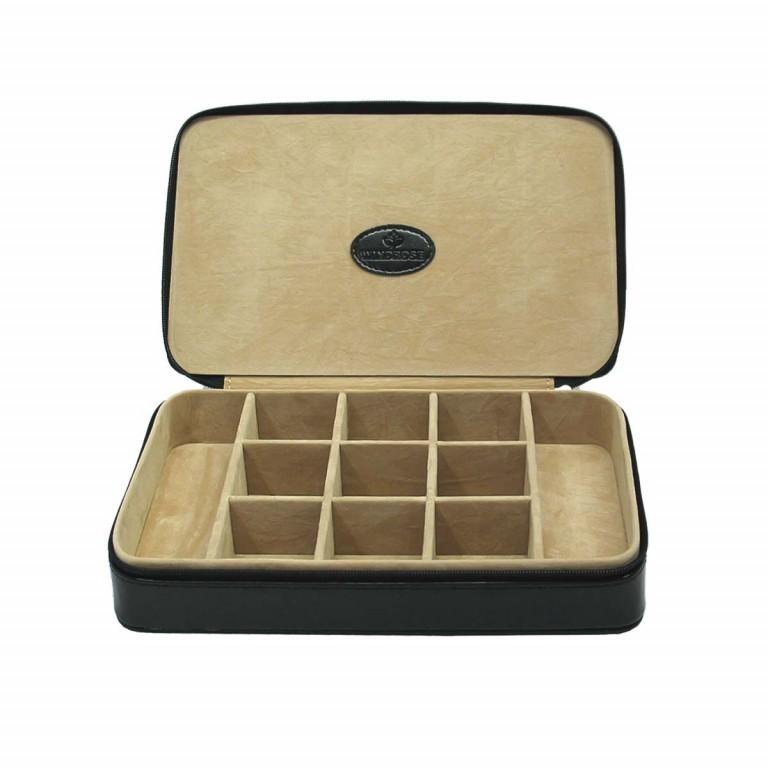 Windrose Merino Charmbox Schwarz, Farbe: schwarz, Marke: Windrose, Abmessungen in cm: 23.0x14.5x5.0, Bild 1 von 3