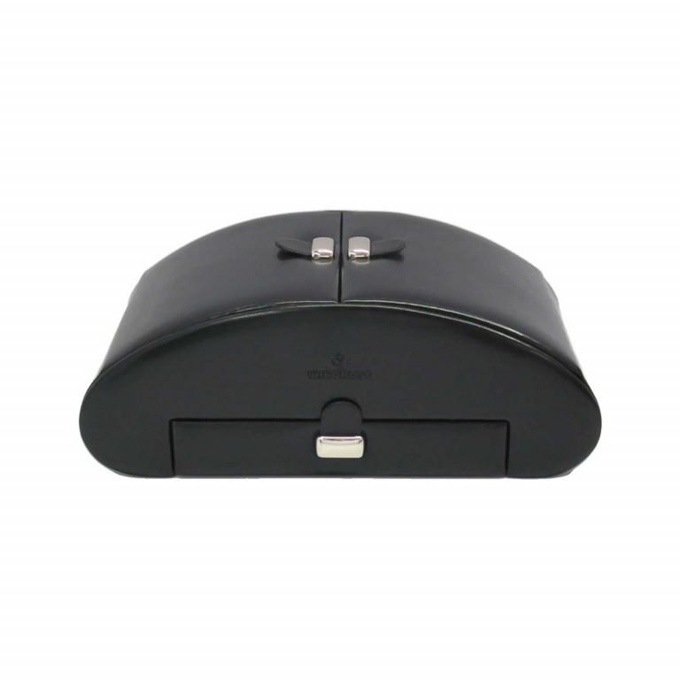 Windrose Merino Schmuckkassette Schwarz, Farbe: schwarz, Marke: Windrose, Abmessungen in cm: 26.5x10.5x15.5, Bild 2 von 3