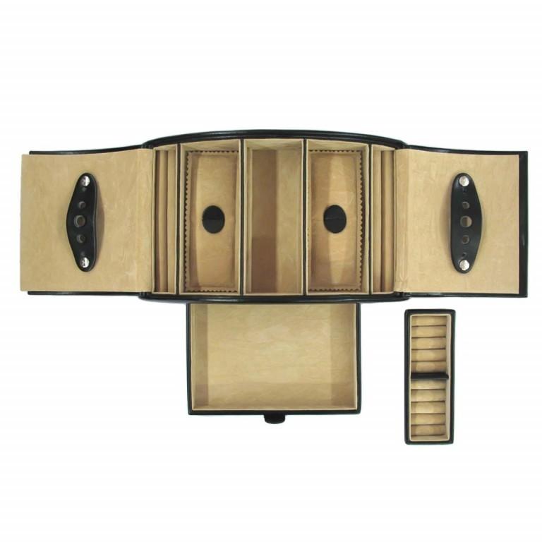 Windrose Merino Schmuckkassette Schwarz, Farbe: schwarz, Marke: Windrose, Abmessungen in cm: 26.5x10.5x15.5, Bild 3 von 3