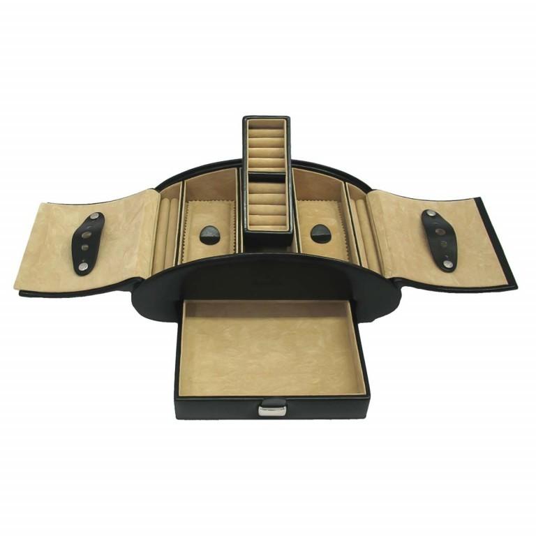 Windrose Merino Schmuckkassette Schwarz, Farbe: schwarz, Marke: Windrose, Abmessungen in cm: 26.5x10.5x15.5, Bild 1 von 3