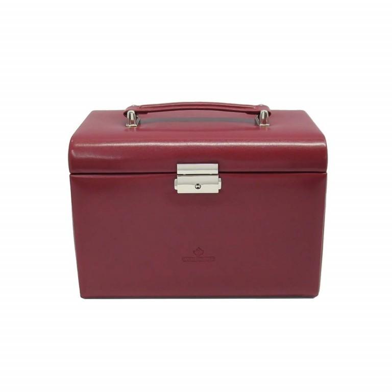 Windrose Merino Schmuckkoffer Vier Etagen Rot, Farbe: rot/weinrot, Marke: Windrose, Abmessungen in cm: 24.5x16.5x16.0, Bild 3 von 4