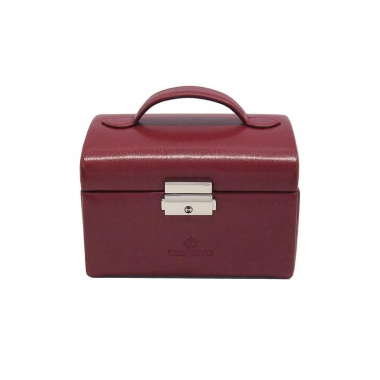 Windrose Merino Schmuckkoffer Klein Drei Etagen Rot, Farbe: rot/weinrot, Marke: Windrose, Abmessungen in cm: 15.0x12.0x11.5, Bild 3 von 4