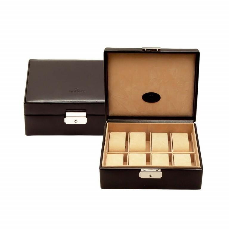 Windrose Merino Uhrenkassette Schwarz, Farbe: schwarz, Marke: Windrose, Abmessungen in cm: 19.5x8.5x15.5, Bild 1 von 4