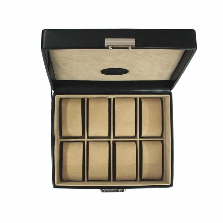 Windrose Merino Uhrenkassette Schwarz, Farbe: schwarz, Marke: Windrose, Abmessungen in cm: 19.5x8.5x15.5, Bild 4 von 4