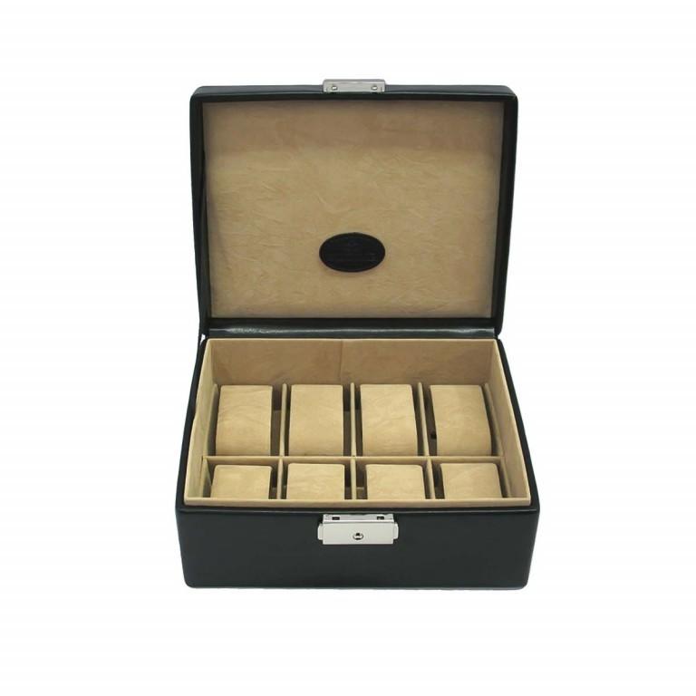 Windrose Merino Uhrenkassette Schwarz, Farbe: schwarz, Marke: Windrose, Abmessungen in cm: 19.5x8.5x15.5, Bild 2 von 4