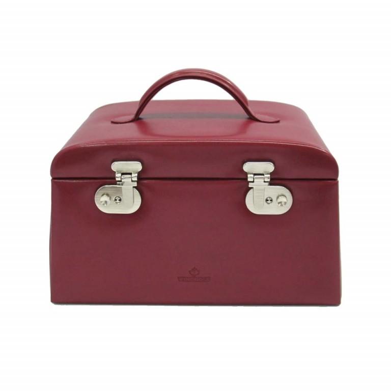 Windrose Merino Schmuckkoffer Seitenladen Rot, Farbe: rot/weinrot, Marke: Windrose, Abmessungen in cm: 29.5x17.0x19.0, Bild 3 von 4
