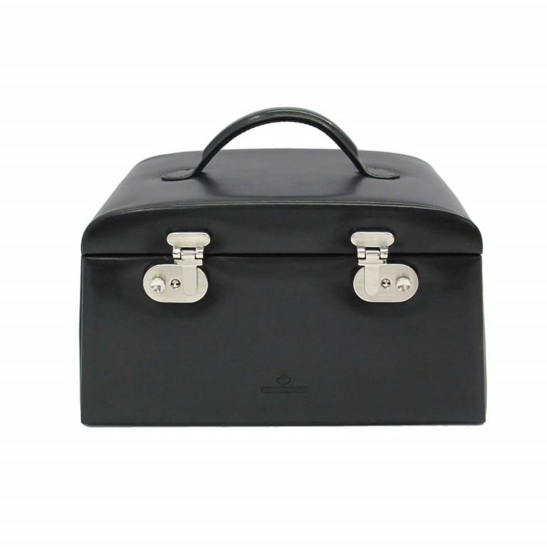 Windrose Merino Schmuckkoffer Seitenladen Schwarz, Farbe: schwarz, Marke: Windrose, Abmessungen in cm: 29.5x17.0x19.0, Bild 2 von 3