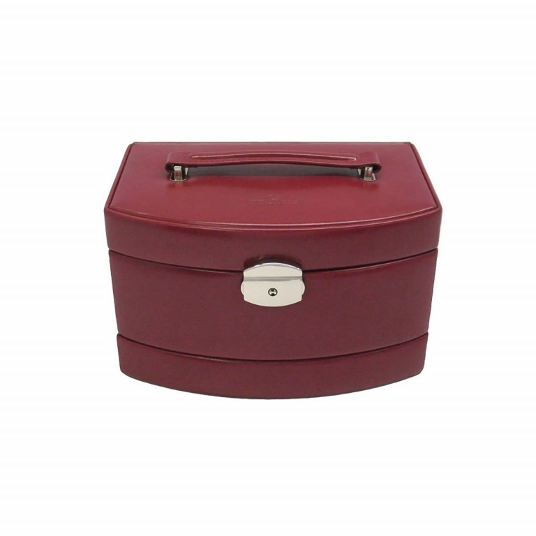 Windrose Merino Automatik-Schmuckkoffer mit Etui Rot, Farbe: rot/weinrot, Manufacturer: Windrose, Dimensions (cm): 23.0x15.0x16.5, Image 3 of 4