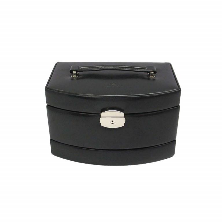 Windrose Merino Automatik-Schmuckkoffer mit Etui Schwarz, Farbe: schwarz, Marke: Windrose, Abmessungen in cm: 23.0x15.0x16.5, Bild 2 von 3