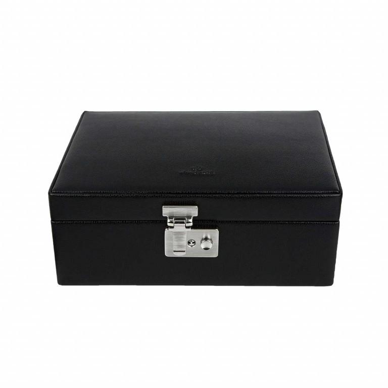 Windrose Beluga Uhrenkoffer Schwarz, Farbe: schwarz, Marke: Windrose, Abmessungen in cm: 24.5x9.0x16.0, Bild 2 von 3