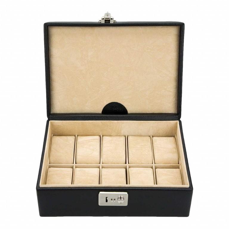Windrose Beluga Uhrenkoffer Schwarz, Farbe: schwarz, Marke: Windrose, Abmessungen in cm: 24.5x9.0x16.0, Bild 1 von 3