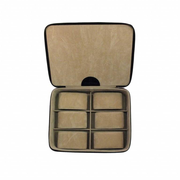 Windrose Beluga Uhrenkassette Schwarz, Farbe: schwarz, Marke: Windrose, Abmessungen in cm: 19.0x6.5x15.5, Bild 3 von 3