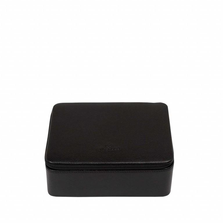 Windrose Beluga Uhrenkassette Schwarz, Farbe: schwarz, Marke: Windrose, Abmessungen in cm: 19.0x6.5x15.5, Bild 2 von 3