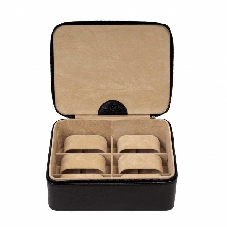 Windrose Beluga Uhrenkassette Schwarz, Farbe: schwarz, Marke: Windrose, Abmessungen in cm: 19.0x6.5x15.5, Bild 1 von 3