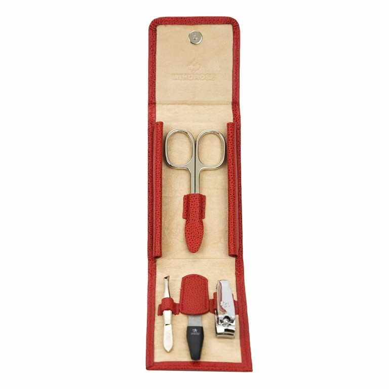 Windrose Beluga Manicure Set XS Rot, Farbe: rot/weinrot, Manufacturer: Windrose, Dimensions (cm): 6.5x10.0x1.5, Image 1 of 3