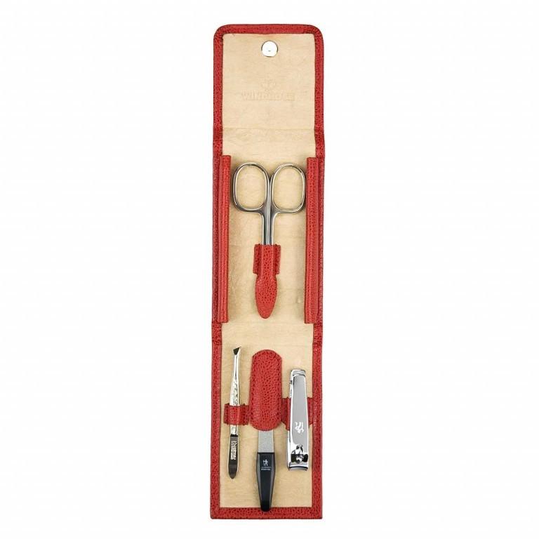 Windrose Beluga Manicure Set XS Rot, Farbe: rot/weinrot, Marke: Windrose, Abmessungen in cm: 6.5x10.0x1.5, Bild 3 von 3