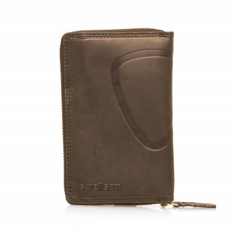 Strellson Phone Wallet Z5 Leder Dark Brown, Farbe: braun, Marke: Strellson, EAN: 4053533202300, Abmessungen in cm: 15.0x9.5x2.5, Bild 1 von 3