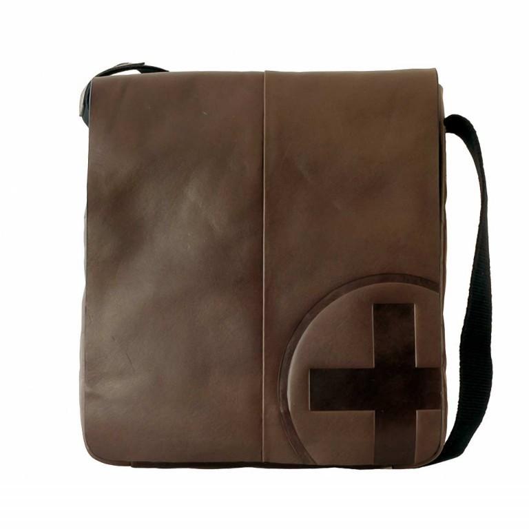 Strellson Jones Messenger SV Dark Brown, Farbe: braun, Marke: Strellson, EAN: 4006053145114, Abmessungen in cm: 23.0x26.0x4.0, Bild 1 von 1