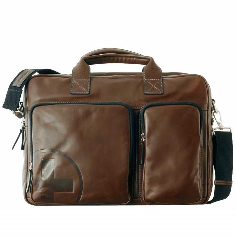 Strellson Jones Soft Briefcase Dark Brown, Farbe: braun, Marke: Strellson, EAN: 4006053093248, Abmessungen in cm: 40.0x29.0x10.0, Bild 1 von 1