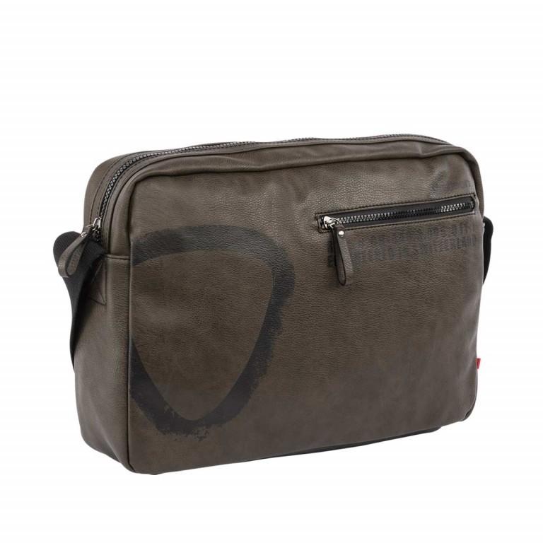 strellson Paddington Shoulderbag MH Mud, Farbe: grün/oliv, Marke: Strellson, EAN: 4053533065240, Abmessungen in cm: 38.0x28.0x9.0, Bild 2 von 3