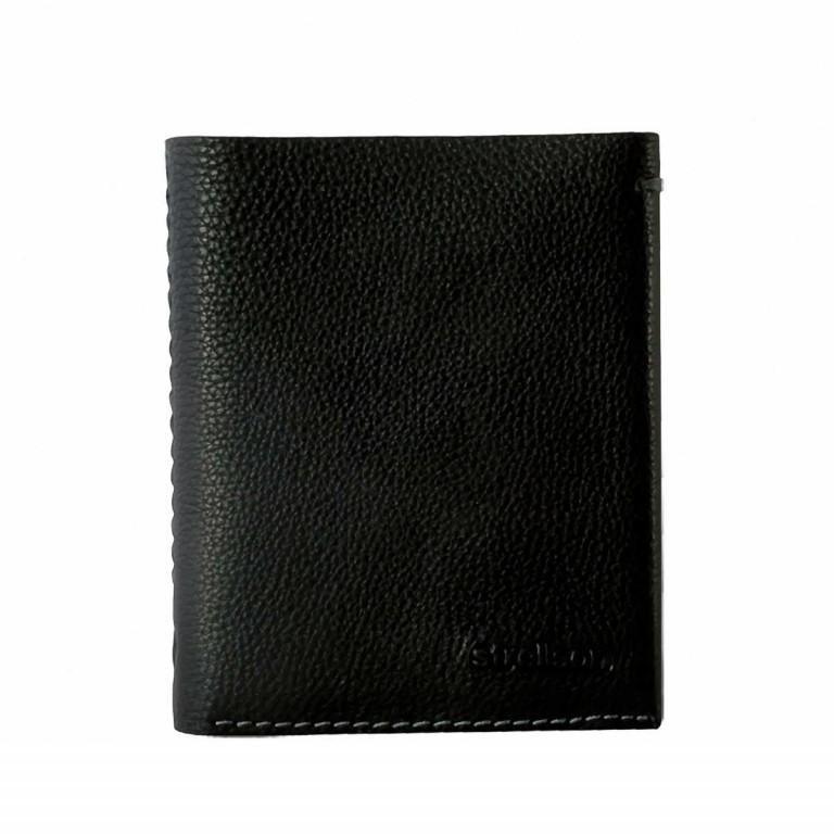 Strellson Woodford BillFold V8 Kombibörse Leder, Farbe: schwarz, cognac, Marke: Strellson, Abmessungen in cm: 12.0x10.0x2.5, Bild 1 von 1